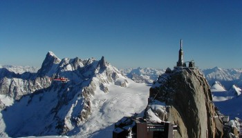 Flight over the Mont-Blanc